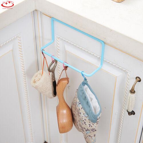 Towel Rack Hanging Holder Organizer Bathroom Cabinet Shelf Door Cupboard Hanger