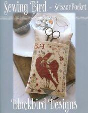 Sewing Bird - Scissor Pocket - Blackbird Designs New Chart