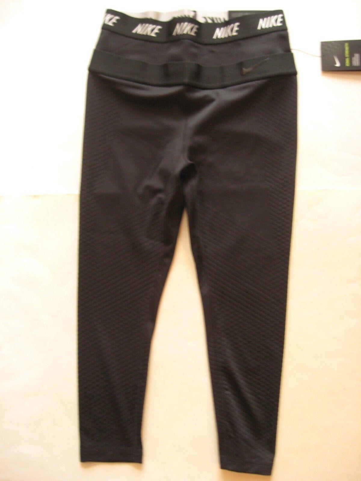 New NIKE ZONAL STRENGTH WOMEN'S HIGH RISE 21  TRAINING Capri Pants 861624-010 S