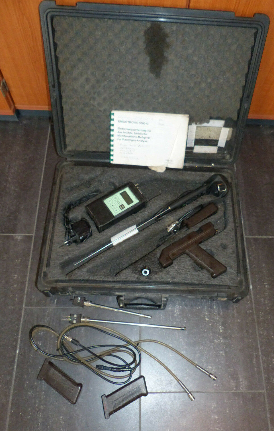 Brigon Brigotronic 5000 G Rauchgas Messgerät Abgasanalysegerät im Koffer