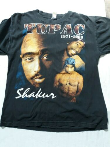 Vintage 90s Tupac Shakur Do For Love 2-sided Rap T