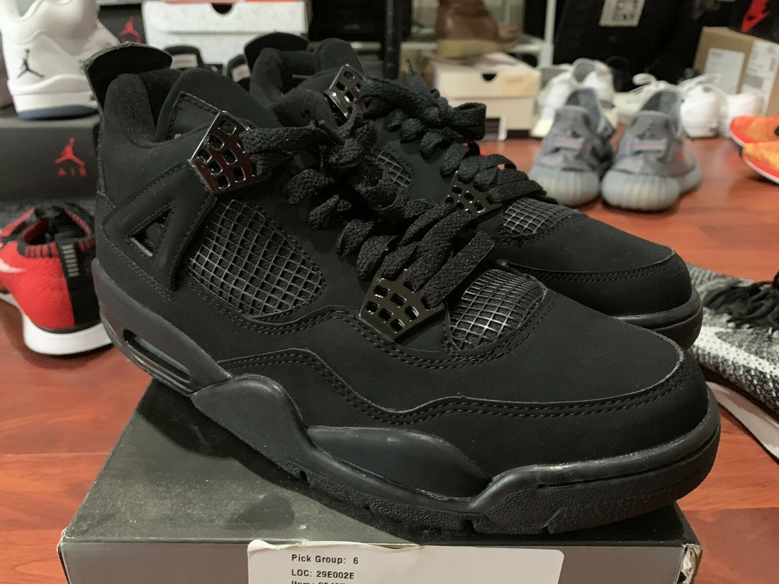 DS Nike Air Jordan IV 4 BLACK CAT Size 8 2006 Retro 308497-002 Rare New