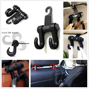 cars suvs back seat headrest black holder hooks for bag coat purse for benz bmw ebay. Black Bedroom Furniture Sets. Home Design Ideas
