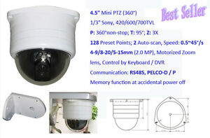 Low-Light-Mini-PTZ-Security-Dome-Camera-700-TL-Sony-CCD-Pelco-D-P-RS485-2-8-12mm
