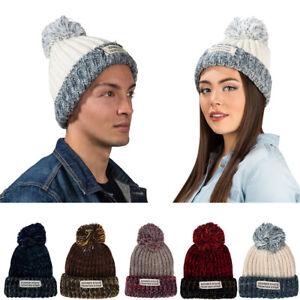 dc41c356598 Aerusi Women Men Unisex Warm Winter Knit Beanie Pom Bobble Hat ...