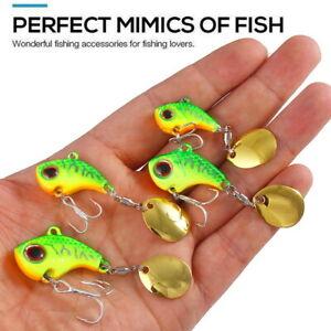 6pcs Metal VIB Vibration Bait Spinner Spoon Treble Hook Crankbaits Bass Fishing