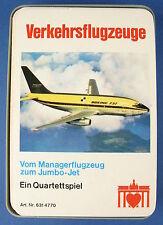 Quartett - Verkehrsflugzeuge - BERLINER Nr 6314770 - Flugzeug -Brandenburger Tor