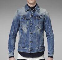 BNWT Mens G Star Raw Arc Slim 3D Denim Jacket - Blue - WAS £149.99 NOW £74.99