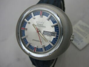 NOS NEW SWISS SPECIAL BIG CAMY AUTOMATIC WATCH 1960'S
