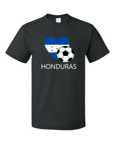 Honduras Soccer Team Football Futbol Unisex Black T-Shirt Tee Top