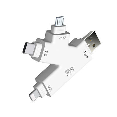 Micro USB Type C TF Card Reader For iPhone X XS max XR 8 7 6 Plus 5S iOS Android