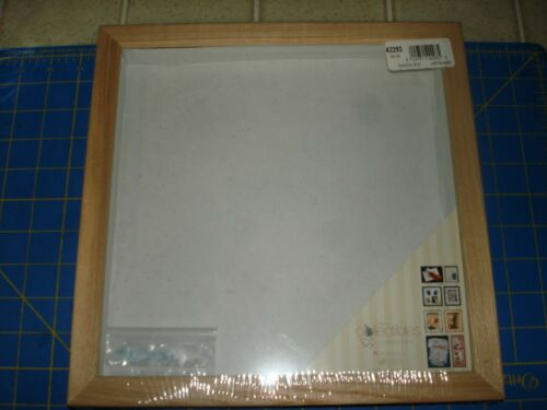 SHADOW BOX UNFINISHED WOOD  10/'/' X 10/'/' TIMELESS COLLECTIBLE  NEW SEALED