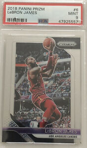 2018-19-Panini-Prizm-6-Lebron-James-Cavs-Lakers-PSA-9-MINT-Not-Silver