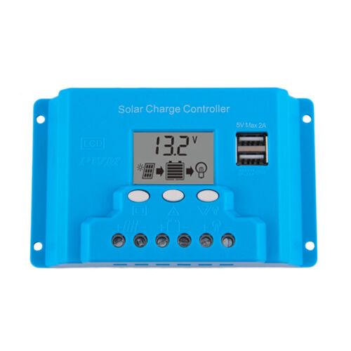 10 A 20 A 30 A 12V//24V ou 48 V Affichage LCD Chargeur solaire contrôleur panneaux Régulateur