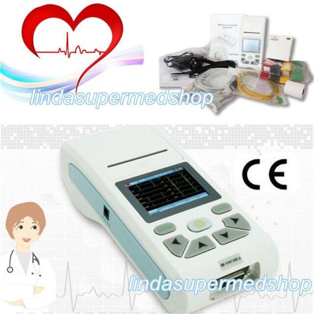 ECG90A Electrocardiograph Sampling 12 Lead ECG EKG Machine 2G STORAGE + SOFTWARE
