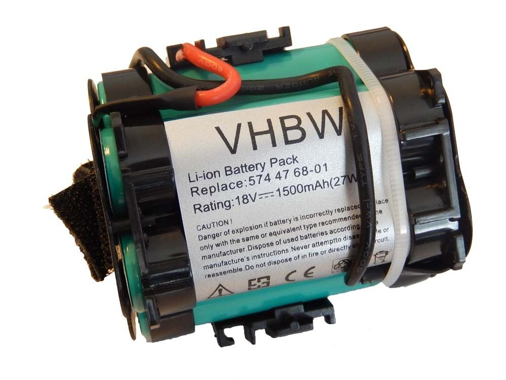 BATTERIA VHBW 1500mAh per Flymo 1200R, 1200 R; Husqvarna Automower 305, 308