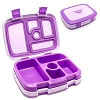 Lunch Box Bentgo Kids Leak Proof Purple With 5 Compartments And Removable Tray