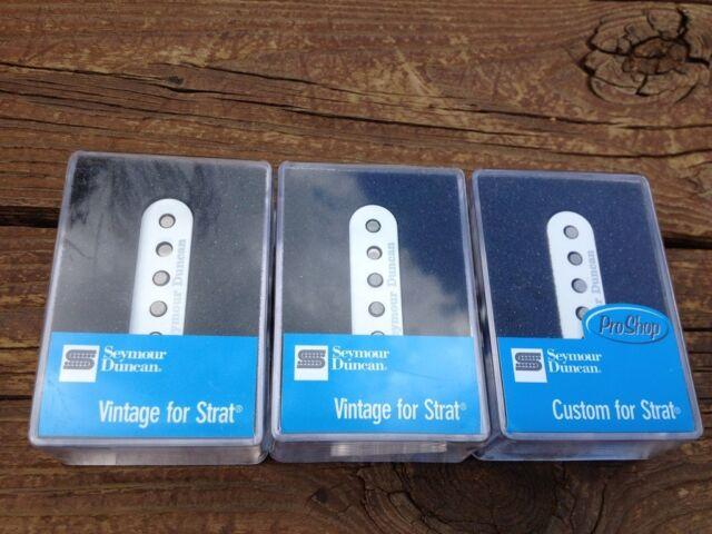 Seymour Duncan Ssl-1 and Ssl-5 Custom Stratocaster Single Coil ...