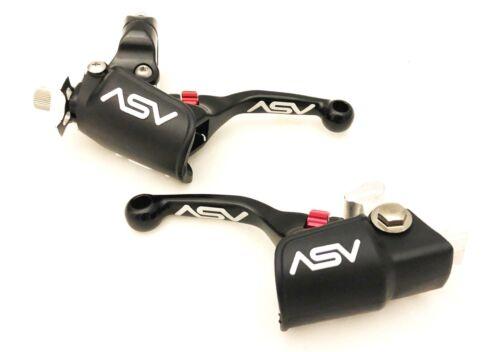 ASV Unbreakable F4 Black Shorty Clutch Brake Levers Kit Dust Covers KX KLX