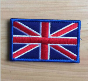 England Great Britain Iron on patches Application badges 6,8x5cm blue