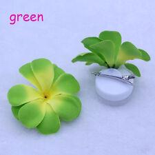 2PCS Green Artificial Silk flowers Hairpin Hawaiian Plumeria Hair Accessory NEW
