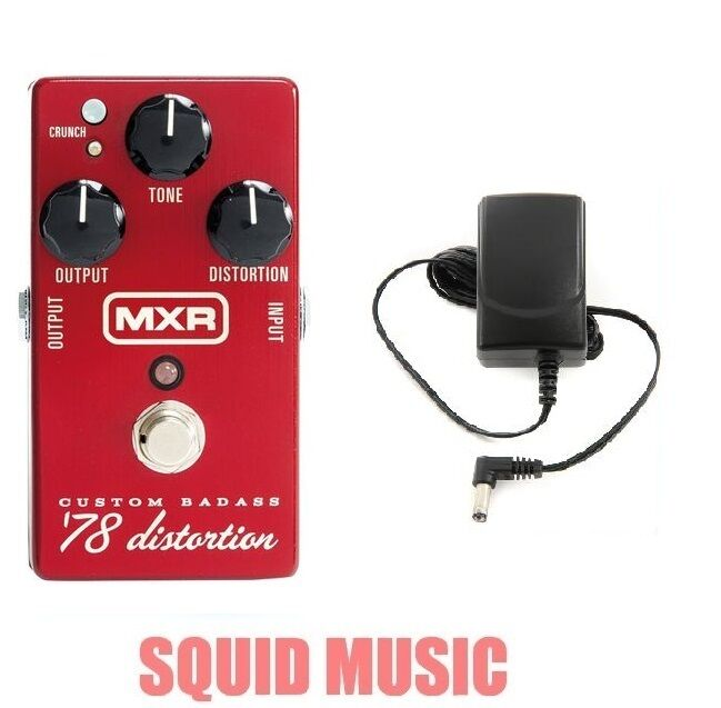 MXR Custom Badass '78 Distortion M-78 Guitar Effects M78 ( FREE POWER SUPPLY )