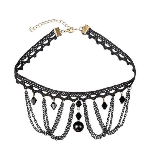 Gothic Lace Retro Choker Collar Necklace Victorian Pendant Chocker Chain Jewelry