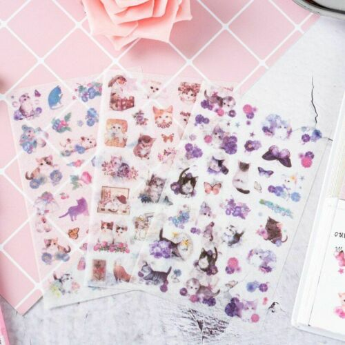 Cat Decoration Japanese Kawaii Sticker Scrapbooking Stickers Cute Stationery New