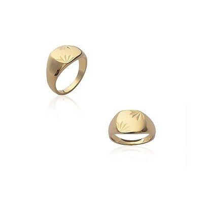 100% QualitäT Ring Siegelring Münzen Gemeißelt Für Männer Vergoldet Neu Größe 60
