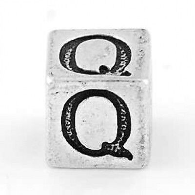 STERLING SILVER BLOCK LETTER INITIAL T CUBE CHARM