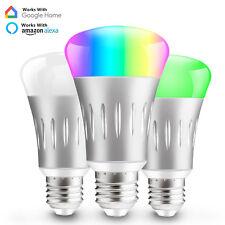 Dimmable E27 RGB LED WiFi Smart Bulb Light Bulbs for Amazon Alexa Google Home