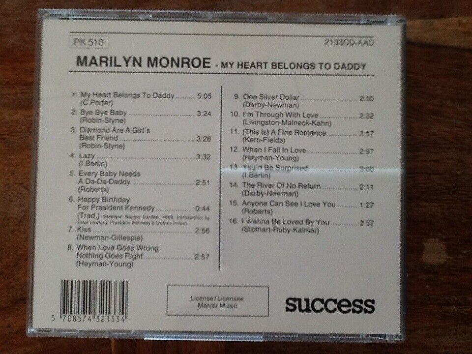 Marilyn Monroe: My Heart Belongs To Daddy, jazz