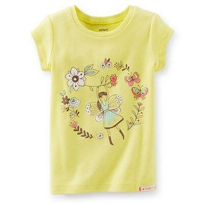 New Carter's Shimmer Flower Fairy Yellow Tee Top NWT 2t 3t 4t 5t 4 5 6 6x 7 8 1
