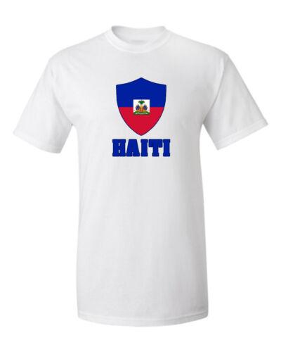 Haiti T shirt Soccer Jersey Patriotic Flag Shield Pride Sports Baseball