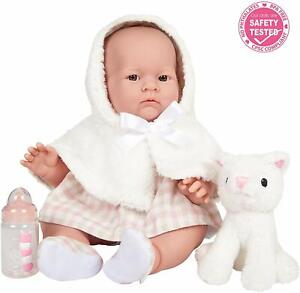 JC-Toys-Lily-Anatomically-Correct-Real-Girl-18-034-Baby-Doll-White-Coat-Access