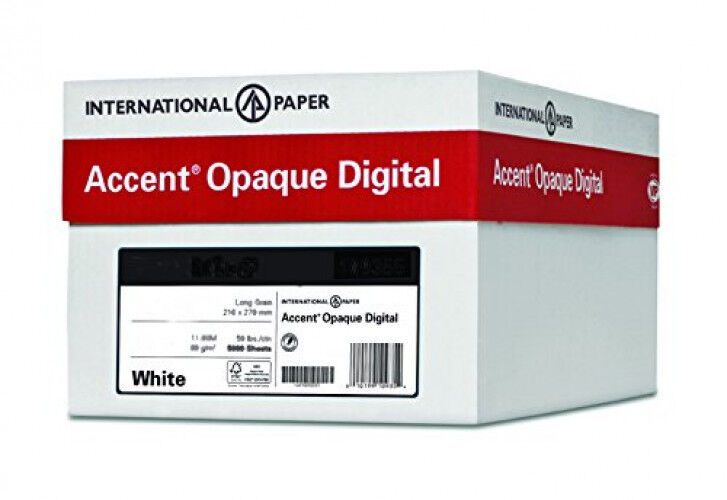 Accent Opaque Text White Smooth, 28 70lbs, Letter, 8.5 x 11 4000 Sheets