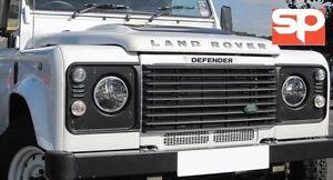 LED-HEADLIGHT-7-034-HIGH-QUALITY-PAIR-RHD-BLACK-LITE-TRUCK-FOR-LAND-ROVER-DEFENDER