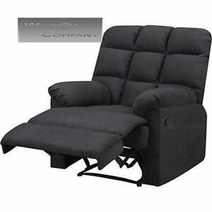 Gray grey microfiber recliner wall hugger lazy chair furniture living room boy ebay for Microfiber accent chairs living room