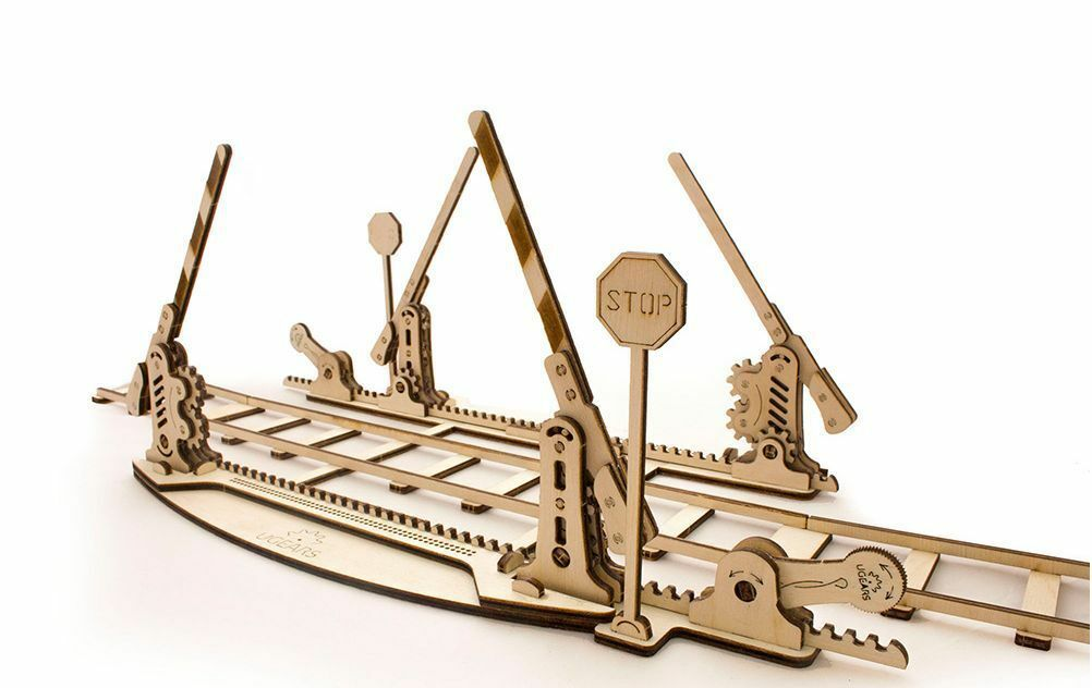 Mechanical UGEARS wooden 3D Model  Rails  Construction Set