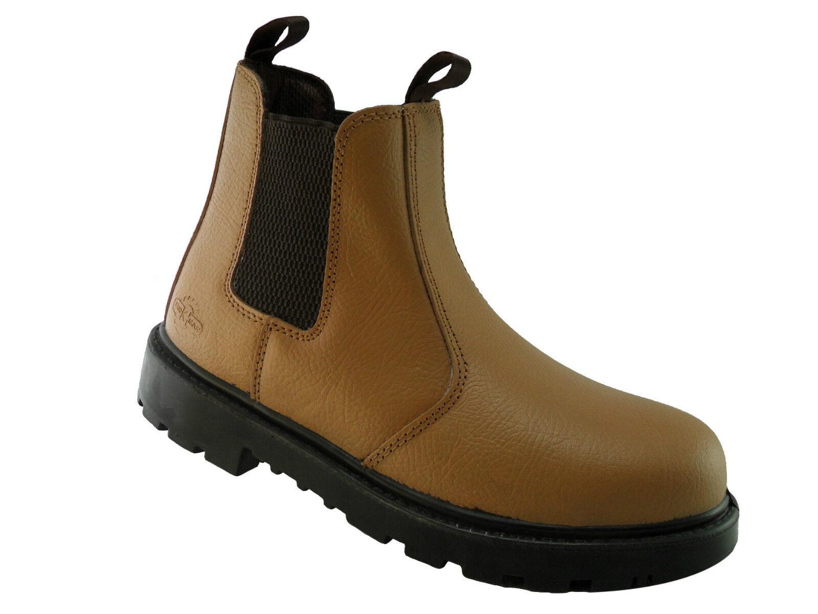 Pro Steel Man PM109C S1P Tan Steel Pro Toe Cap Chelsea Dealer Safety Boots Work Boots PPE 56104c