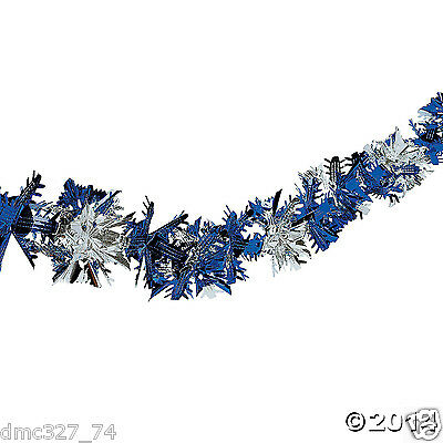 CHRISTMAS Winter or Frozen Themed Party Decoration Metallic SNOWFLAKE GARLAND