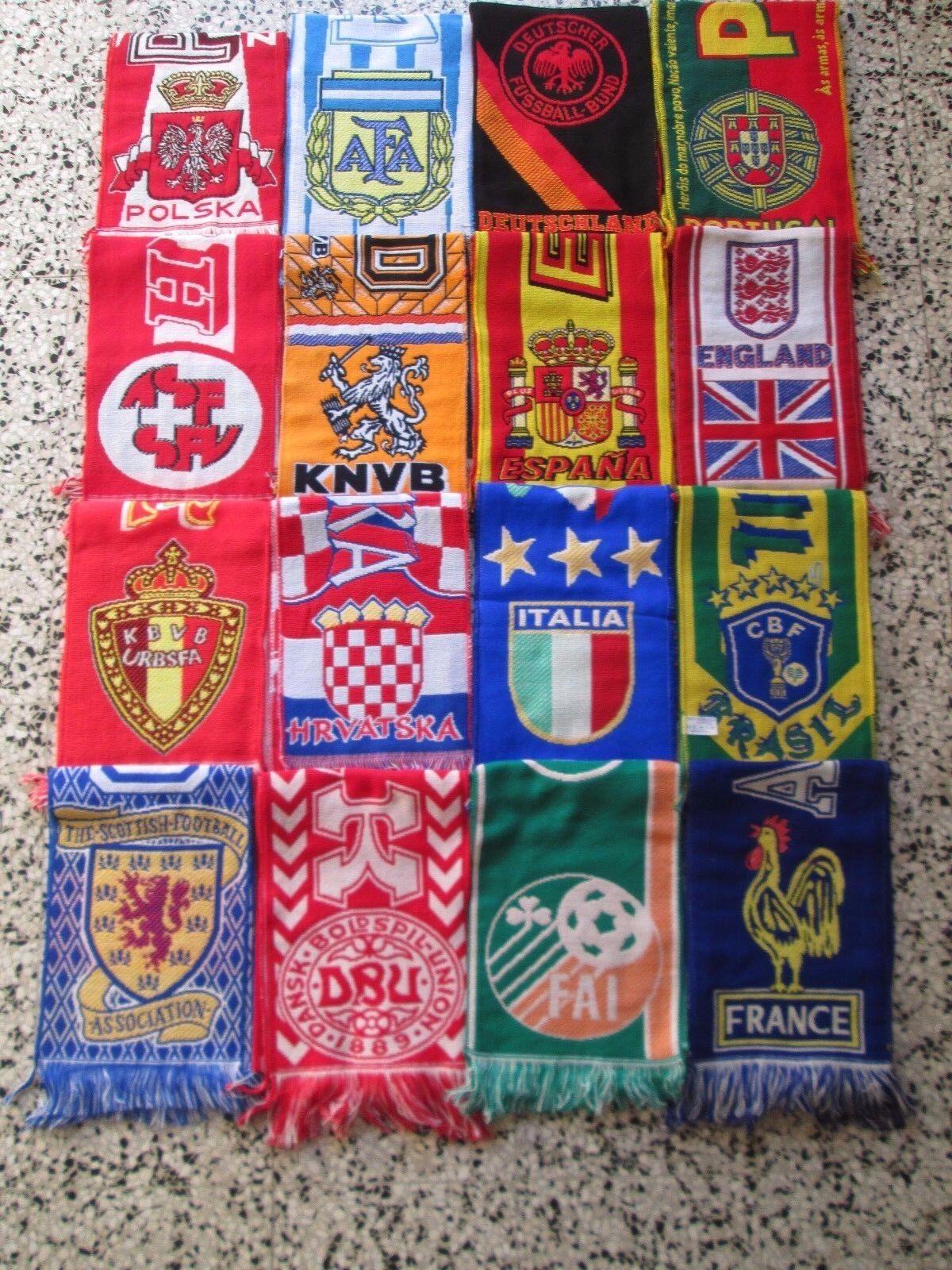 Lotto 16 sciarpe FEDERATION football association calcio scarf schal bufanda lot