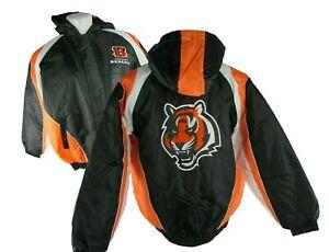 64576a4a Details about Cincinnati Bengals NFL Men's Full-Zipper Hooded Winter Jacket  Size L, XL, 2XL