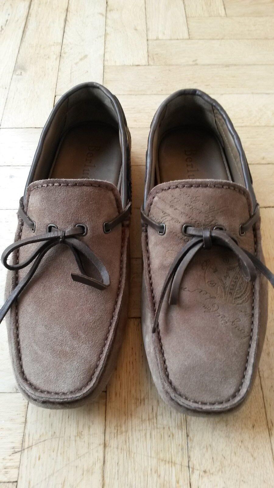 Original Berluti Car Schuhe/Mokassin aus sandfarbenem Kalbsleder