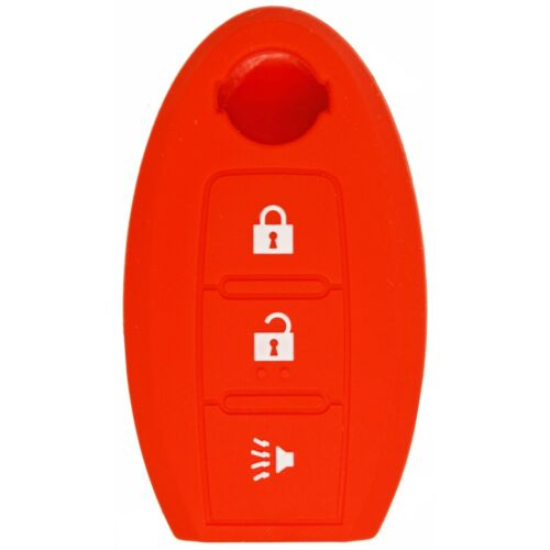 Protective Silicone Remote Cover For Nissan KBRTN001 CWTWB1U808 KR55WK49622 Red