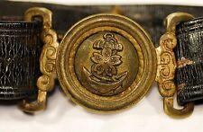 WW2 Japanese Navy IJN Officers Leather Belt w/ Hanger Belt & Chain Military 201