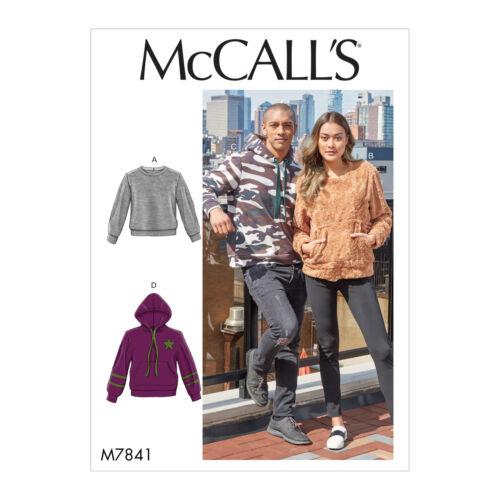McCall/'s 7841 patrón de costura para hacer fácil Unisex Jersey Tops Prendas con capucha