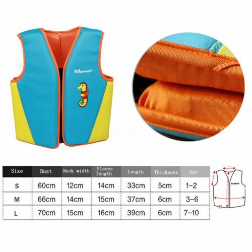 Kids Swim Float Vest Swimming Pool Aid Baby Age1-10 Life Jacket Inflatable Sail*