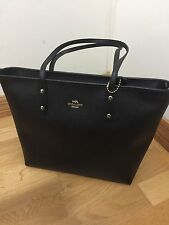 NWT-Coach Crossgrain City Zip Tote, Black, 58846, MSRP $295.00
