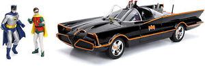 NEW Jada 98625 Batman Classic 1966 TV BATMOBILE 1:18 Vehicle w/ Lights & Figures